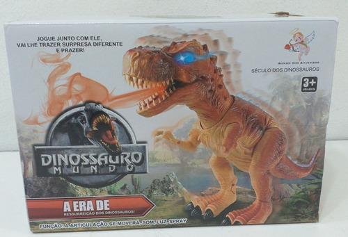Dinossauro Mundo Som Luzes Fumaça Movimentos Novo