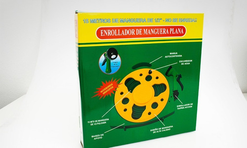 Manguera Plana 15 Mts  Riego H101b Aquaflex