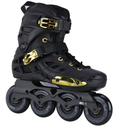 Patins Oxer Darkness Gold -in Line- Freestyle-abec 7- Adulto