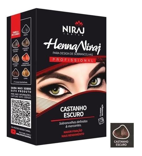 Niraj Henna Para Sobrancelha 3,5g - Castanho Escuro