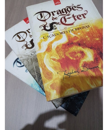 Livro Trilogia Dragões De Éter - 3 Volumes