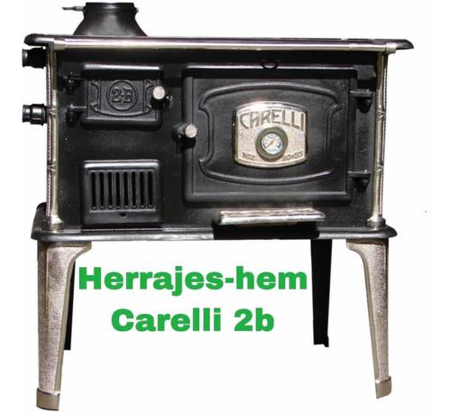 Cocina A Leña  Carelli N°2b  Horno De Chapa
