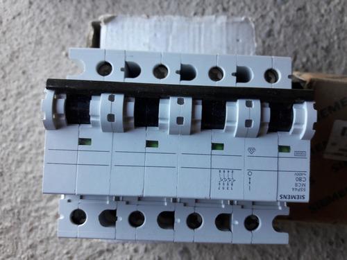 Interruptor Termomagnético Tetrapolar Siemens 5sp44 Mcb C80