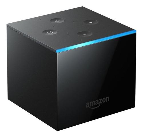 Amazon Fire Tv Cube 2nd Generation  De Voz 4k 16gb  Preto Com 2gb De Memória Ram