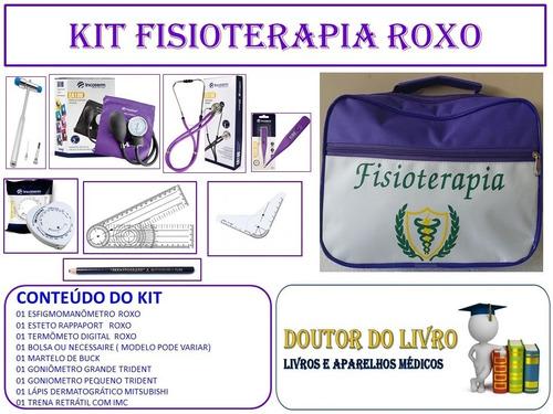 Kit Goniômetros Fisioterapia Universitário Cores Variadas