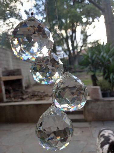 Finas Esferas D/cristal Facetadas P/decoración E Iluminación