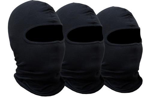 Kit 3 Toucas Ninja Balaclava Toca Motoqueiro Proteção Uv50
