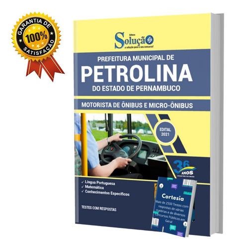 Apostila Prefeitura Petrolina Pe Motorista De Micro ônibus