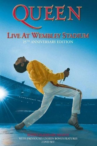 Queen Live At Wembley Stadium 2dvd Imp.new Cerrado En Stock