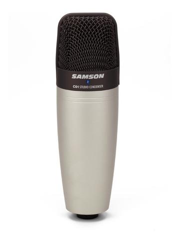Micrófono Samson C01 Condensador  Hipercardioide Plata