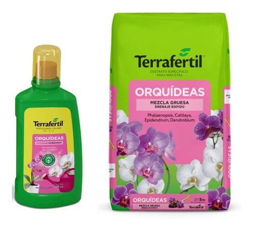Kit Orquídeas Sustrato 5 Lts + Fertilizante 330cc