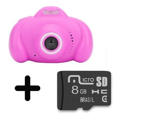 Mini Câmera Digital Filmadora Infantil Brinde Cartão Memoria