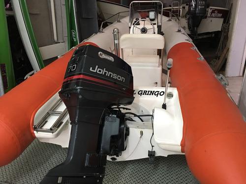 Semirrigido Kiel 560 Motor Johnson 70 Hp