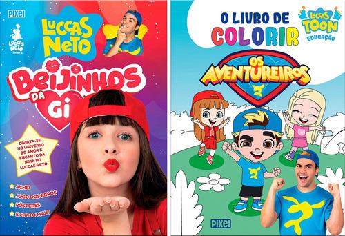 Kit Beijinhos Da Gi + Livro De Colorir Os Aventureiros
