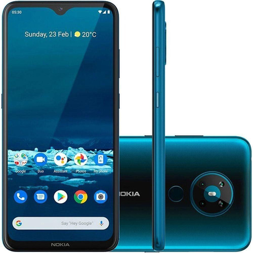 Smartphone Nokia  Nk009 Tl 5.3 128gb 4gb Ram Verde Ciano