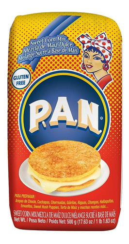P.a.n. Mezcla De Maiz Dulce Con Azúcar 500gr