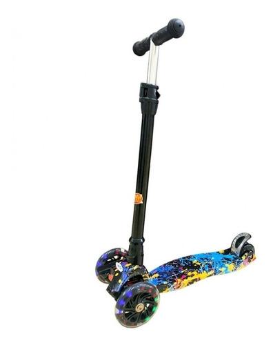 Patinete Infantil 3 Roda Scooter Skatenet Com Led Colorida