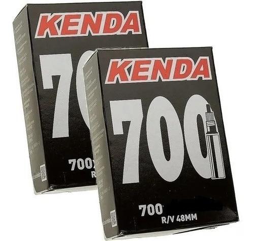 Kit Camara De Ar Speed Kenda 700x25 Bico Fino 48mm Presta