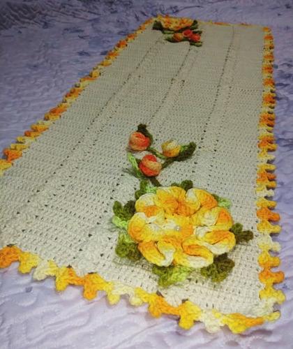 Caminho De Mesa - Flores Amarelas Original