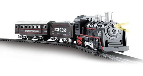 Trem Trenzinho Ferrorama Locomotiva Com Luz E Som 67,5cm