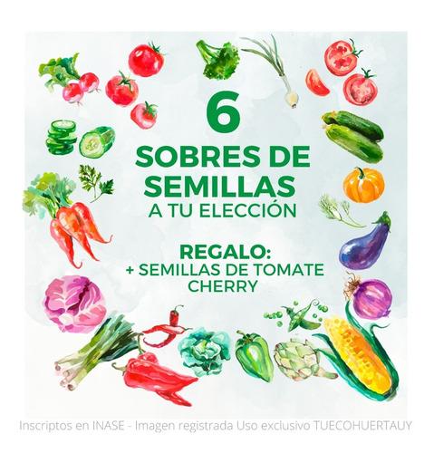 Pack De Semillas Huerta Y Aromáticas - Elegí Las Que Quieras