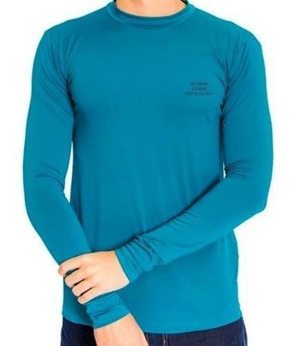 Camiseta Termica Proteção Solar Uv Tecido Gelado