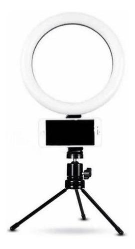 Ring Light Iluminador Luz Led Selfie Tripé Mesa