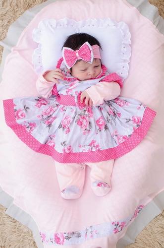 Saída De Maternidade Menina Charmosa Cor 6 Nova 5 Peças