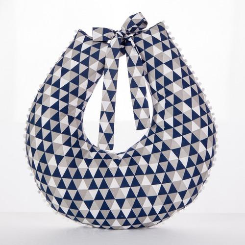Almofada Para Amamentação - Travesseiro Nuvem Azul