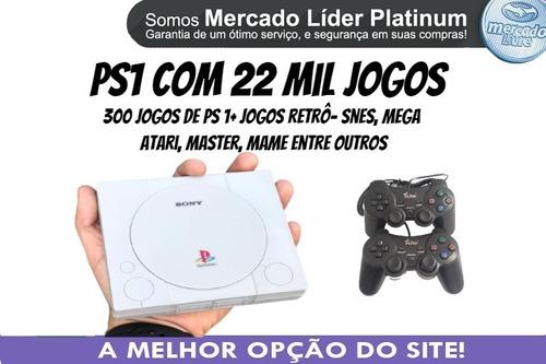 Mini Playstation 1 Retrô 21 Mil Jogos+ 2 Controles