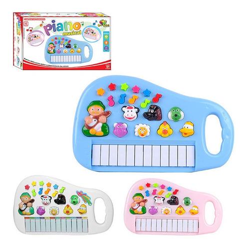 Teclado Piano Infantil Menino Menina Som Luz Envio Imediato