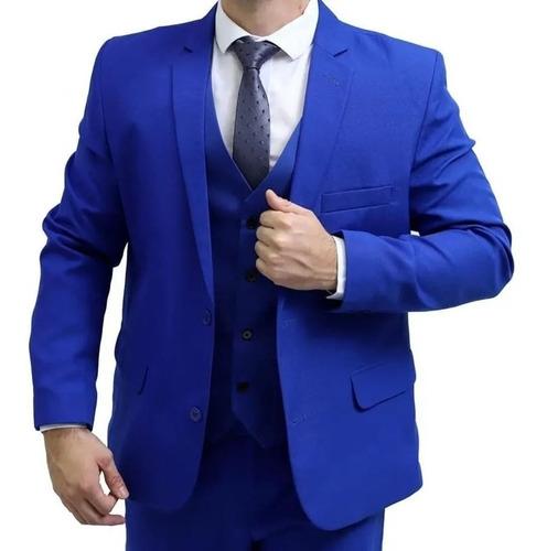 Blazer Preto Masculino Paletó+calça+colete + Oferta De 2020