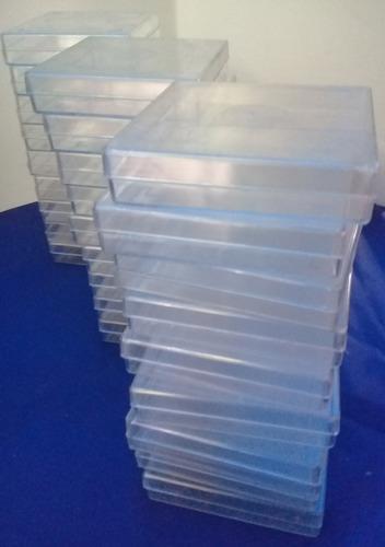 Lote De 15 Cajitas Transparentes De Acrílico Con Tapa