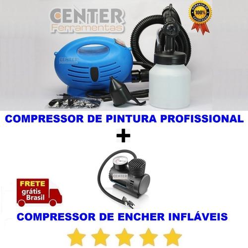 Compressor Pintura Bomba Maquina Portatil Enche Bola Futebol