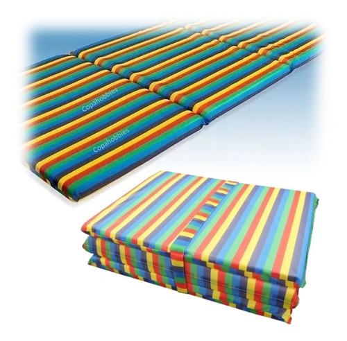 Colchoneta Camping Multi Color Rayas Promoción