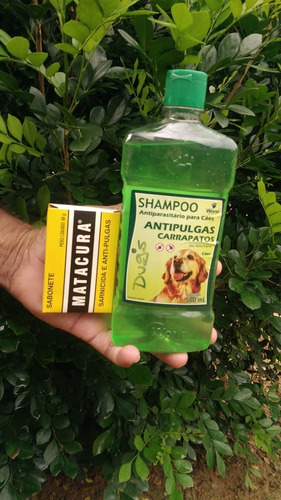 Kit Shampoo Dugs Antipulgas E Sabonete Matacura P/ Cãesl