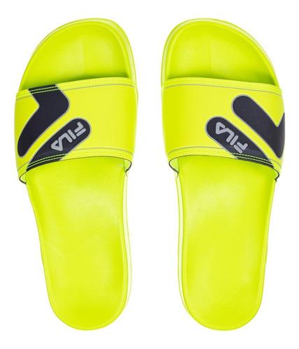 Chinelo Masculino Slide F-beach Fila Limão/preto  901075