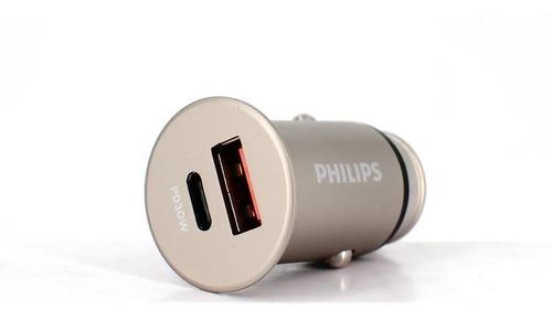 Carregador Veicular Philips Turbo 5a Qc3.0+pd 30w Dlp5529c