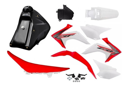 Kit Roupa Crf 230 Adaptavel Xr200 Tornado Bros Xtz Amx Avtec