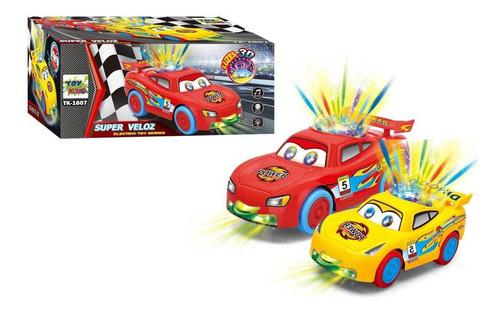 Carrinho Bate Volta Infantil Brinquedo C/ Luz Som Movimento