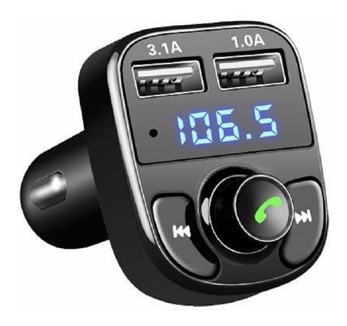 Transmisor Receptor Bluetooth Fm Usb Cargador Manos Libre Sd