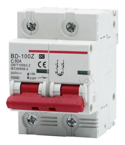 Disjuntor Dc Bipolar 80a 100a 125a 500v Cc