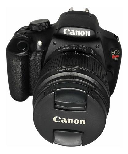Câmera Cânon T5 C Lente 18:55 Mm Seminova 33, 600 Cliques