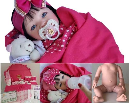 Bebe Reborn Princesa Corpo Todo De Silicone + Bolsa