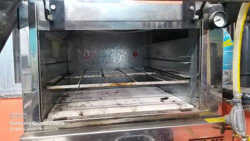 Forno Industrial 60x60 Com Cavalete E Grelha