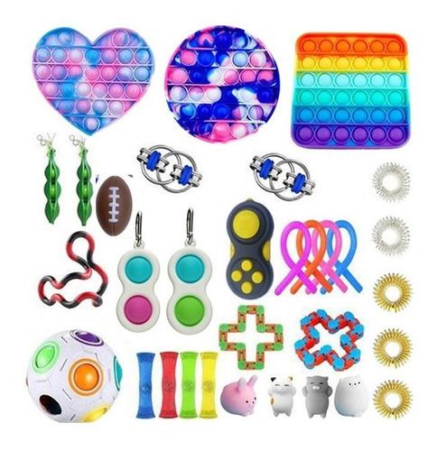 32pcs Fidget Cubo- Anti Stress Toy Sensorial Alivia O Estres