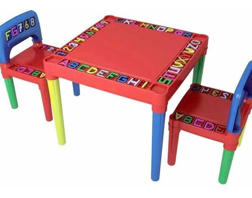 Mesa Infantil 2 Cadeira Educativa Para Crianças + Brinde