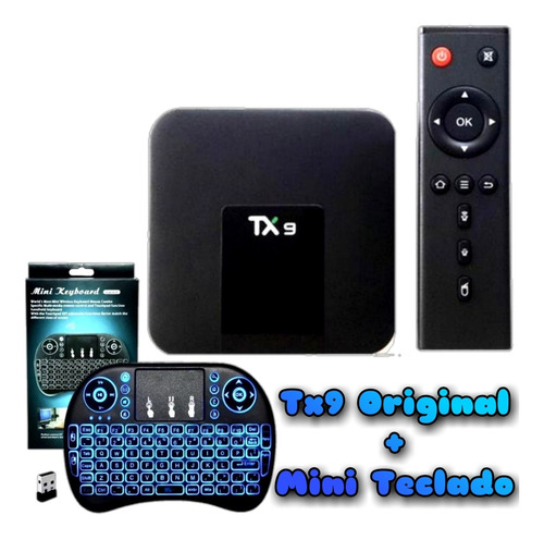 Tv Box Tx9 Original 4k 64gb Memória 8gb Ram + Mini Teclado