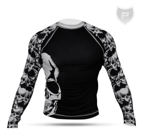 Camisa Uv50+ Segunda Pele Compressão Skull Rg01-01