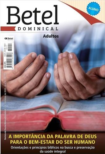 Revistas Lições Bíblicas Adulto Aluno Editora Betel
